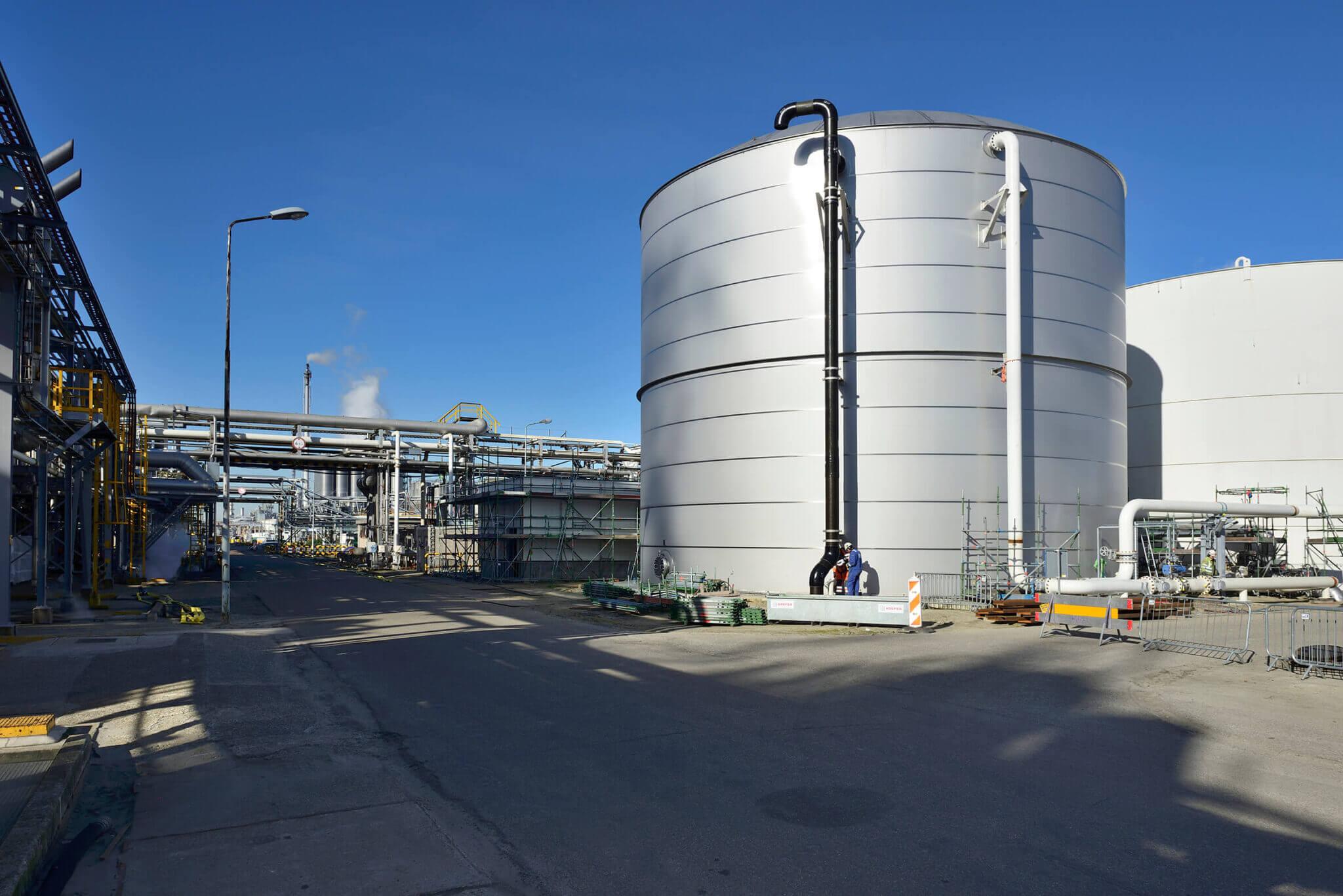 Opslagtank petrochemie
